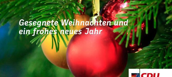 Wir wünschen gesegnete Weihnachten und ein frohes neues Jahr! | CDU ...