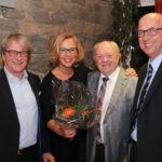 Verabschiedung beim Jahrestreffen der CDU-Fraktion. V.l.n.r. Gerhard Nörenberg, Barbara Niemann, Theo Haske, Reinhard Korfmann.
