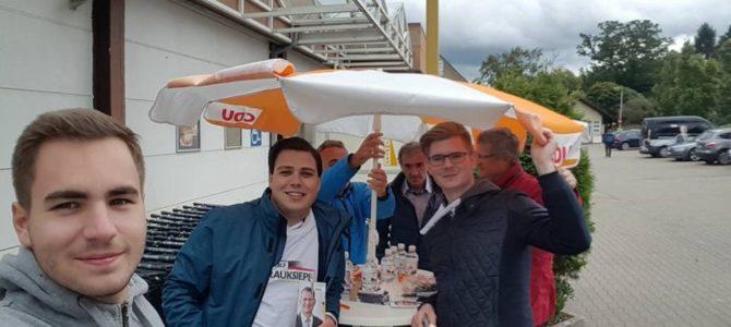 Wahlkampfstand CDU Holthausen mit Dr. Ralf Brauksiepe