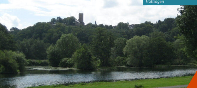Einrichtung eines Flussschwimmbades in Hattingen